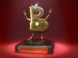 """Esta es la imagen 3D de Blogui, el trofeo de los premios de cine de blogueros """"Blogos de Oro""""."""